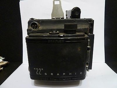 Graflex Camera - As Is -  Untested - Fair Condition