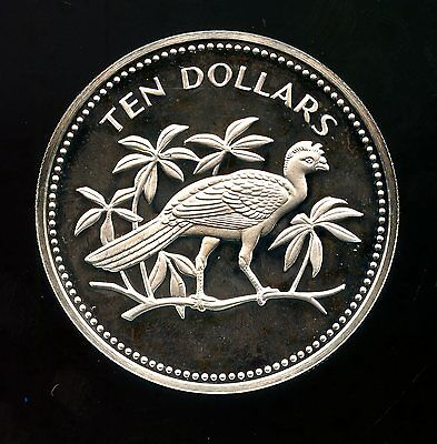 Belize ~ 1974 ~ $10 Ten Dollar ~ Sterling Silver ~ Proof