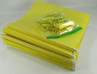 50 YELLOW Letter Size Hanging File Folders, Exc. Cond.