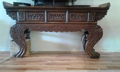 """Chinese Antique Taoist  Altar Table 19Th Century Heirloom 79"""" W 43""""h 19.5"""" D"""