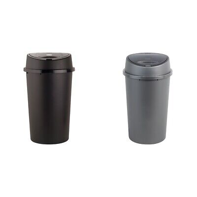 HOME 45 Litre Touch Top Bin - Choice of Black / Silver. From Argos on ebay