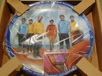 New Hamilton Collection 1985 Star Trek Beam Us Down Scotty Plate