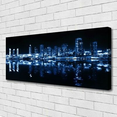Canvas print Wall art on 125x50 Image Picture City Houses