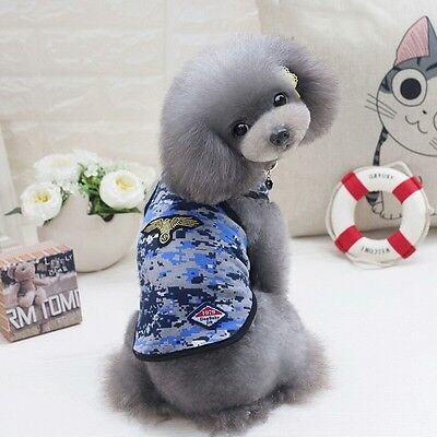 DOG TOP JUMPER CHIHUAHUA YORKIE PUPPY TOY XS TEACUP SMALL blue CAMO 21CM