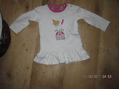 Girls Joules  Long Sleeved Baby  Top Size Aged 9-12 Months