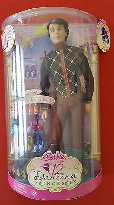 Rare 12 Dancing Princesses PRINCE DEREK Barbie Doll with 12 Pairs of Shoes