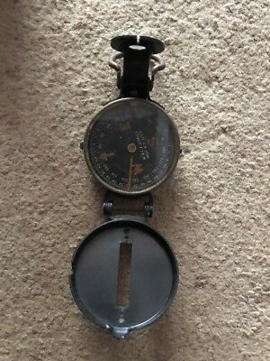 Vintage Compass W. & L.E. GURLEY TROY NY OLD METAL COMPASS WORKS