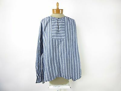 OLD NAVY Women's Tunic Long Sleeve Blouse Top SIZE XL Extra Large Blue Striped