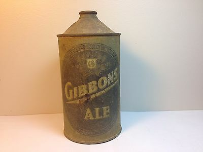 GIBBONS ALE Quart Cone Top Can rusty