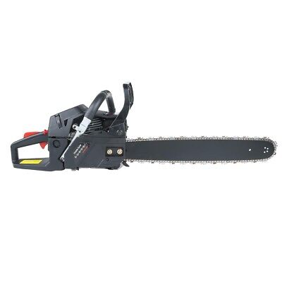 "52CC Gasoline Petrol Chainsaw 20"" Bar Blade Chain Saw Kit Wood Cutting 2-Stroke"