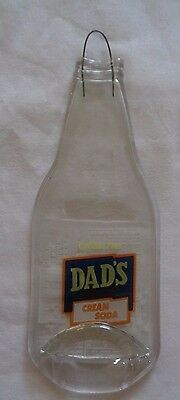 """Dad's Cream Soda Flat Glass Bottle With Hanger 9 3/4"""" Tall By 3 1/2"""" Wide"""