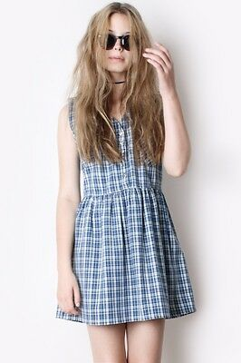 Vintage 90's grunge checked gingham dress size 8-10