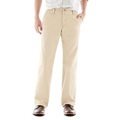 Lee Men's Weekend Chino Straight Fit Flat Front Pant, Khaki Size 38 x 30 - NEW!!