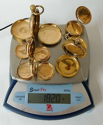 182 Grams Pocket Watch Case Gold Filled Scrap Recovery Gold Lot #221R