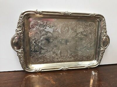 Large Old Silver Plate Tray. Open to offers.