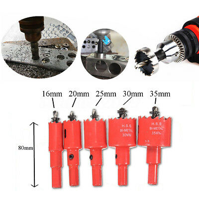 16-35mm HSS Drill Bit Coated Hole Saw Tooth Hole Cutter Woodworking Metal Steel