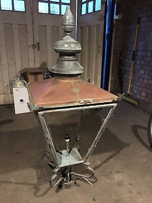 Cast Iron Lamp Post 9.5 Metres and Foster & Pullen Copper Lantern Top
