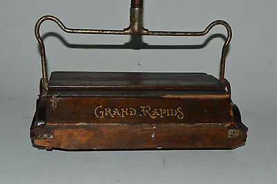 Antique Bissell Wood Grand Rapids Cyco Ball Bearing Floor Sweeper Vintage