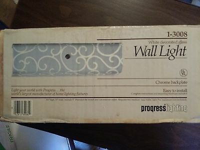 Vintage Mid Century Bathroom Vanity Wall Light Fixture Lamp NEW ORIGINAL BOX