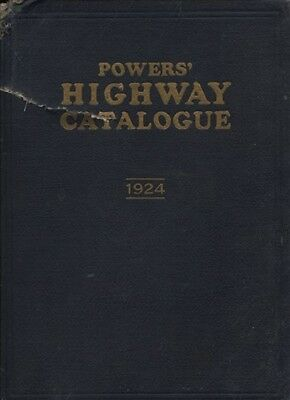 1924 POWERS HIGHWAY CATALOG 1st ED PAVING CONSTRUCTION EQUIP MACHINERY CATALOGUE