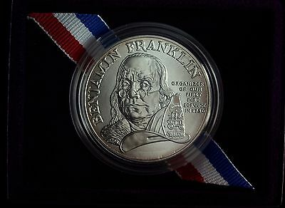 1993 P Ben Franklin's FireFighters Silver Uncirculated Commemorative Medal ☆☆☆