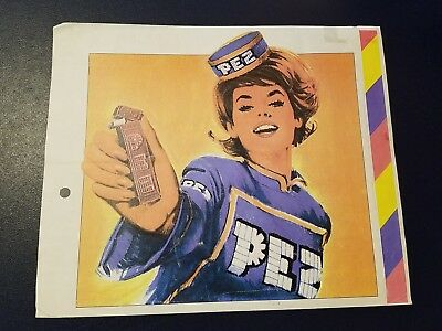 Rare Vintage PEZ Ad Advertising Poster Sign  Newspaper Magazine 1950's? German?