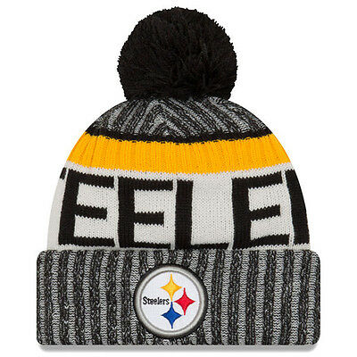 a1c34ed3b Pittsburgh Steelers NFL New Era 2017 Sideline Official Sports Knit Hat  Beanie