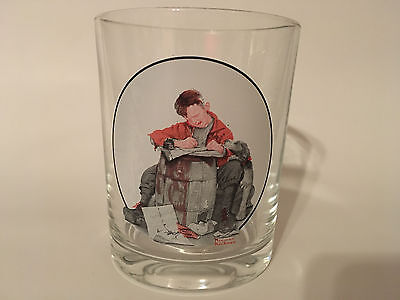 Norman Rockwell Glass - Saturday Evening Post - Love Letters