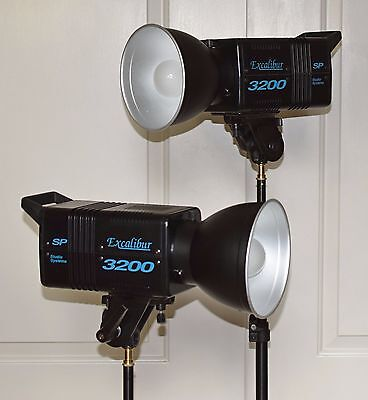 Excalibur 3200 Monolight  2-Light Kit w/ Stands - SP Studio Systems SP3200