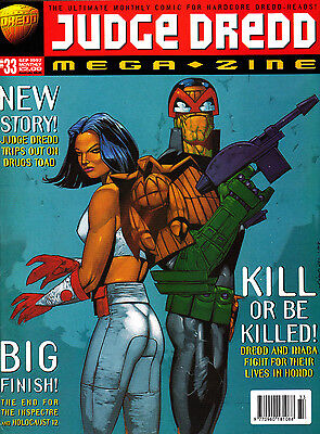 Judge Dredd Megazine #33 Volume 3 , Sept 1997 , 2000AD , Fleetway , VERY FINE