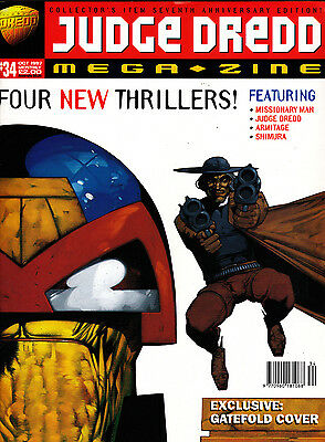 Judge Dredd Megazine #34 Volume 3 , Sept 1997 , 2000AD , Fleetway , VERY FINE