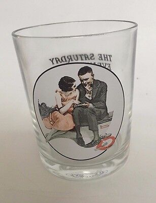 Norman Rockwell Glass - Saturday Evening Post - A Night on the Town