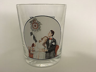 Norman Rockwell Glass - Saturday Evening Post - Courting at Midnight