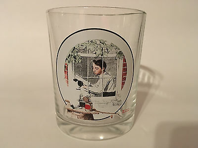 Norman Rockwell Glass - Saturday Evening Post - Boy Gazing out of a Window