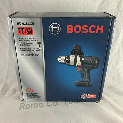 "BOSCH BRUTE TOUGH 18V 1/2"" Hammer Drill (HDH181XB) (New In Retail Box) Bare Tool"