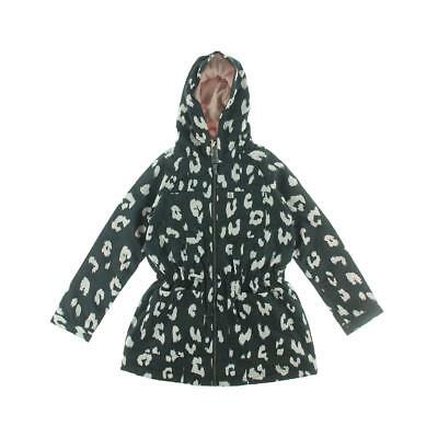 French Connection 9658 Girls Black Hooded Outerwear Coat Jacket 6 BHFO