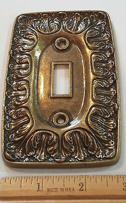 SA Solid Cast Vintage Antique Metal Wall Switch Plate Cover * FREE SHIP