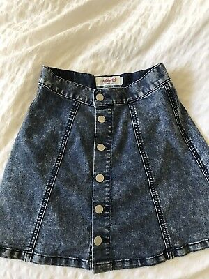 Afends Women Denim Skirt 6