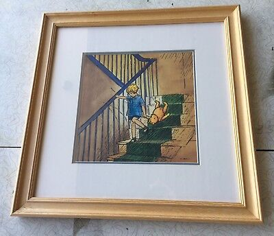 Classic Winnie The Pooh Framed Art Prints (SET) Wall Hanging Nursery Decor