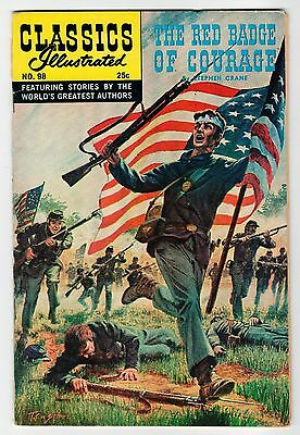 Classics Illustrated RED BADGE OF COURAGE No.98 - HR#166 - VG/FN Vintage Comic