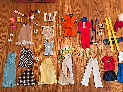 Vintage Barbie Doll Clothes and Case - Lot