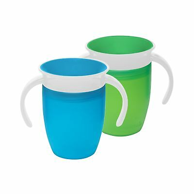 Munchkin Miracle 360 Trainer Cup Green/Blue 7 Ounce 2 Count