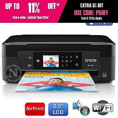 "Epson XP420 All-in-One Wi-Fi Poto Printer 2.5"" LCD#220BK Ink C11CD86501(RRP$129)"