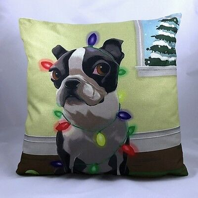 Boston Terrier Throw Pillow (With Insert)