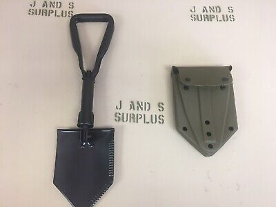 Entrenching tool E tool shovel with OD Green Cover Official USGI Military Issue