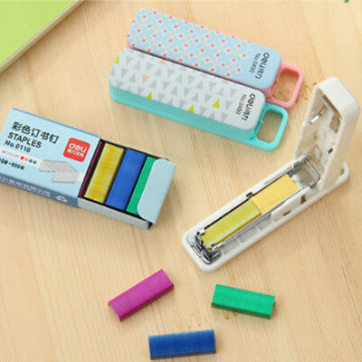 Random Color No. 10 color Staples Set Mini Stationery Office Supply