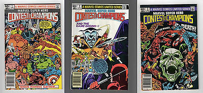 Contest of Champions #1-3 2 SET RUN 1982 Marvel Comics Limited Series