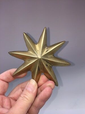 Antique French Bronze Star Cabinet Furniture Mount Decoration Original REDUCED