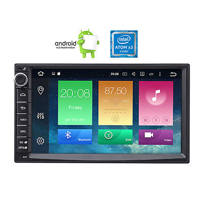 """2-Din 7"""" Car Radio GPS Navigation HD Video Player 16GB Android 6.0 Touch Screen"""