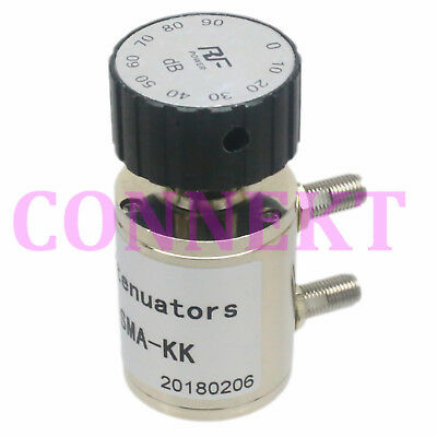 Coaxial Adjustable Step 10db Attenuator SMA connector DC-6.0GHz 2Watts 0~90dB